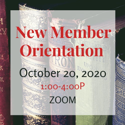 October New Member Orientation