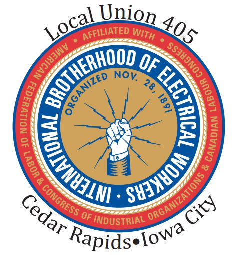 IBEW Local Union 405 Cedar Rapids Iowa City Logo