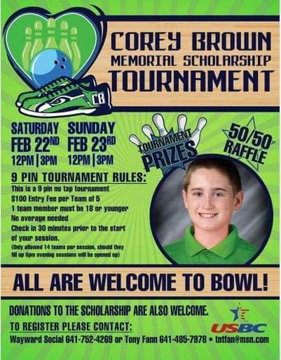 Corey Brown Memorial Bowling Tournament