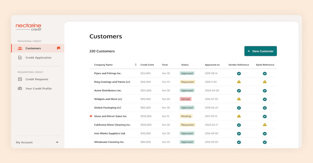 Nectarine Creditis a credit application management software provider