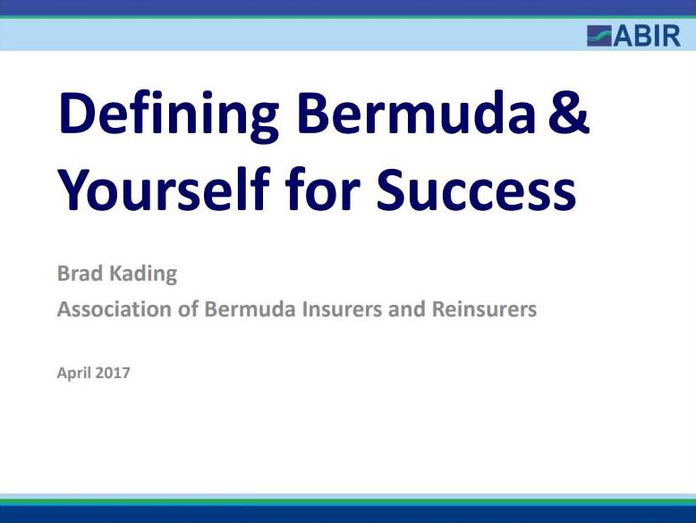 Kading: Defining Bermuda & Yourself for Success