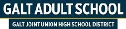 Galt Adult School, Galt Joint Union High School District logo - July 2021