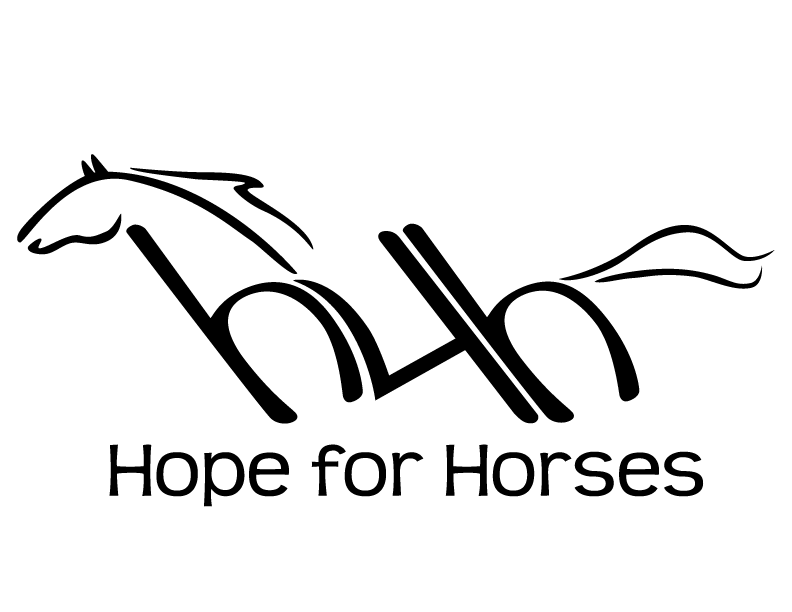 Hope for Horses logo (logo has a sketch of a horse in it)