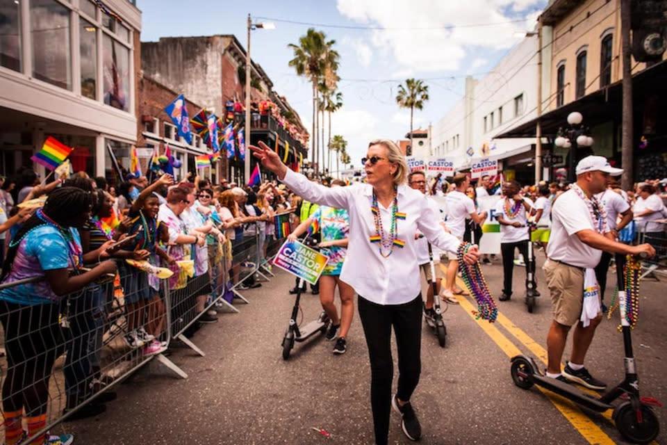 Mayor Jane Castor at Tampa Pride Parade, Tampa Pride, LGBT, Pride, Tampa Bay LGBT Chamber