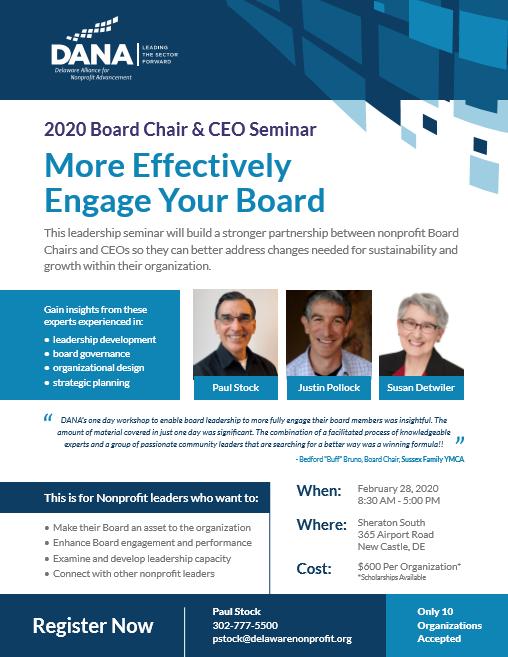 2020 Board Chair & CEO Leadership Seminar