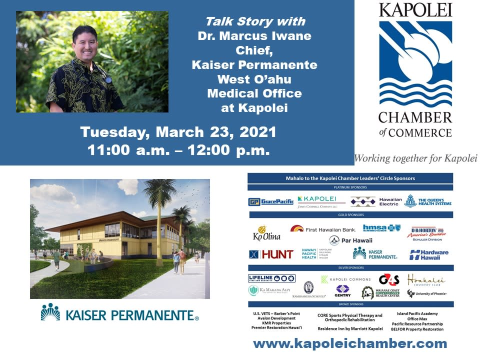 Dr, Marcus Iwane, Chief at Kaiser Permanente West O'ahu Medical Office
