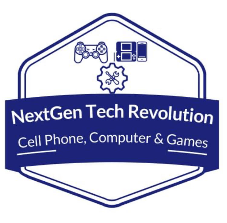 "Logo for NextGen Tech Revolution ""Cell Phone, Computer & Games"""