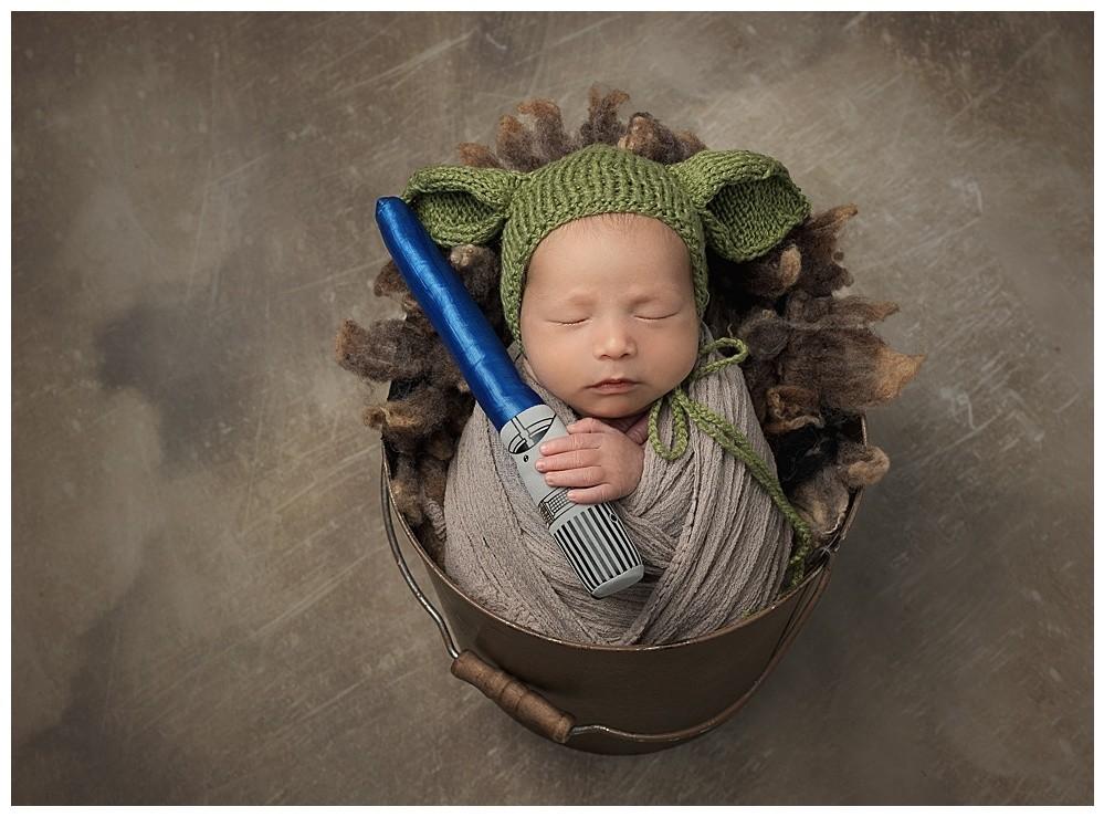 Baby Yoda Austin Newborn Photography