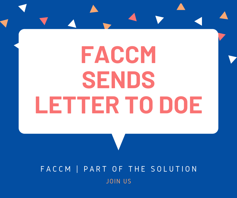 FACCM Send Solutions Based Letter to Dept. of Education
