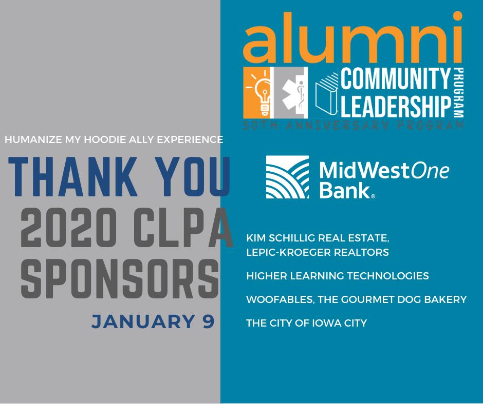 Thank you 2020 CLPA Sponsors