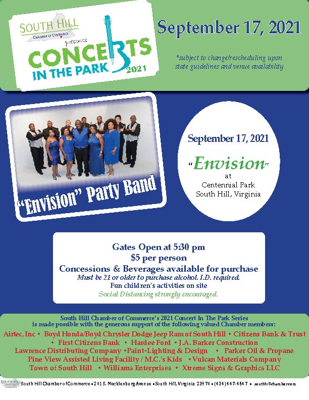 """Concerts in the Park 2021, featuring """"Envision""""!"""