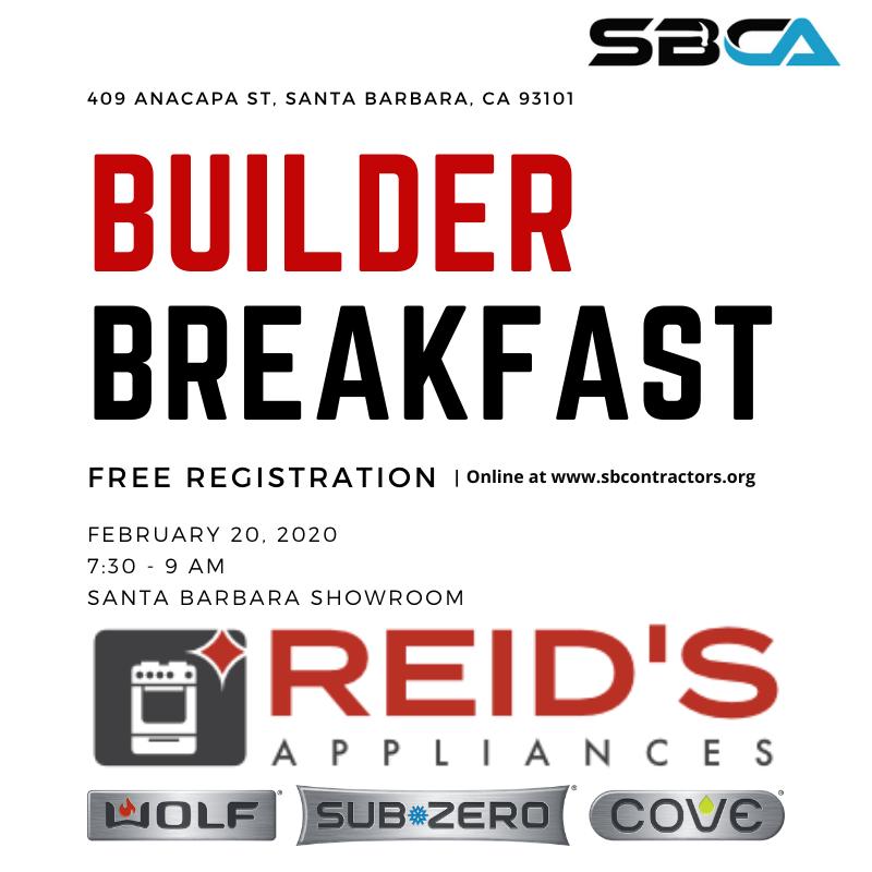 Builder Breakfast - Hosted by Reids Appliances