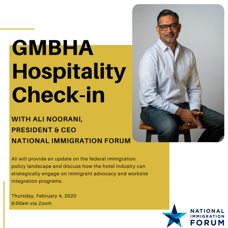 Hospitality Check-in with Ali Noorani, National Immigration Forum