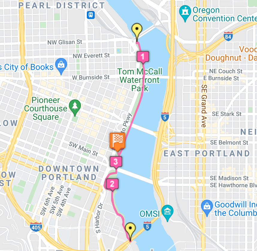 2021 Rose City 5K Run - Course Map