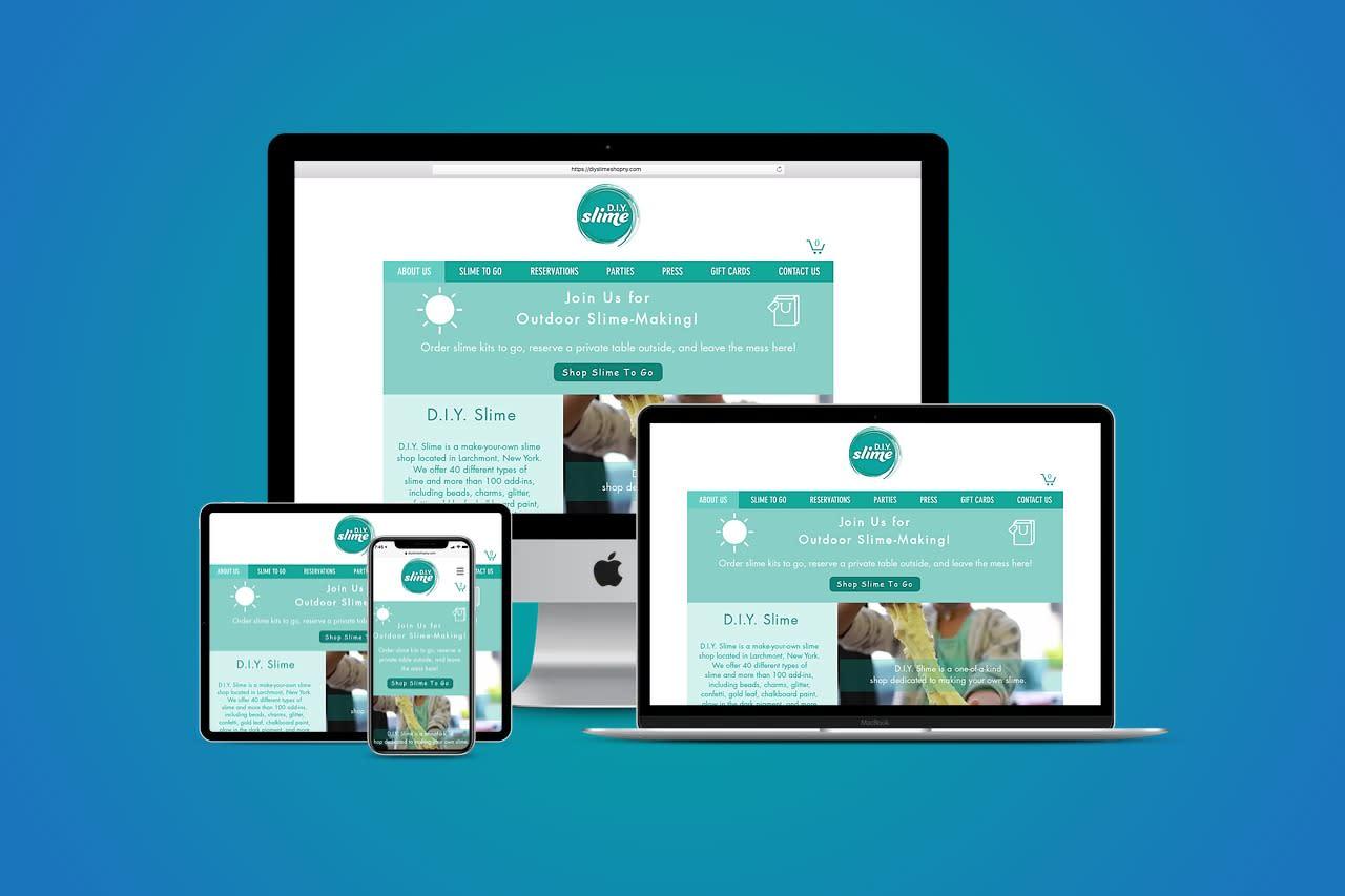 D.I.Y. Slime Responsive Website