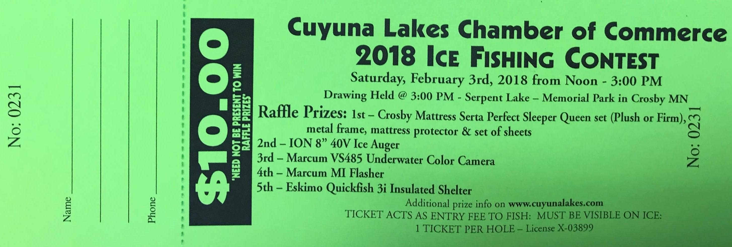 Ice Fishing Contest and Scorpion Homecoming | Cuyunalakes