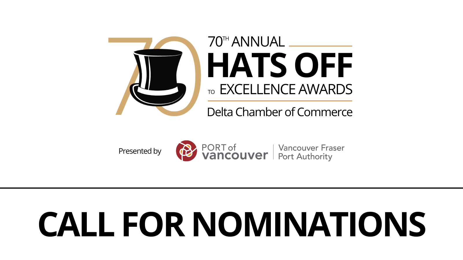 Hats Off to Excellence Call for Nominations Banner