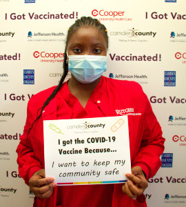 Johnnet Reeves hopes her decision to be inoculated will inspire other people to get the vaccine.