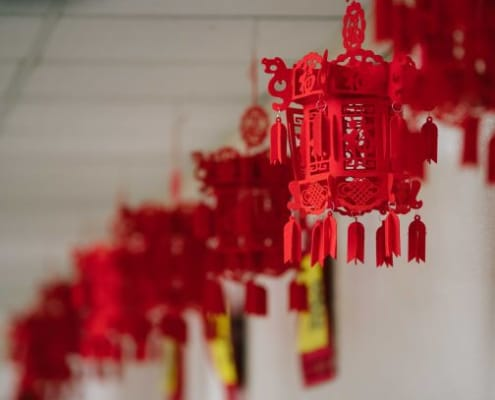 Chinese New Year Holiday Tradition Decor Lantern