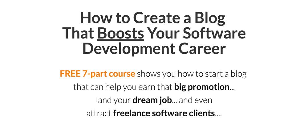Why Every Software Developer Needs a Blog