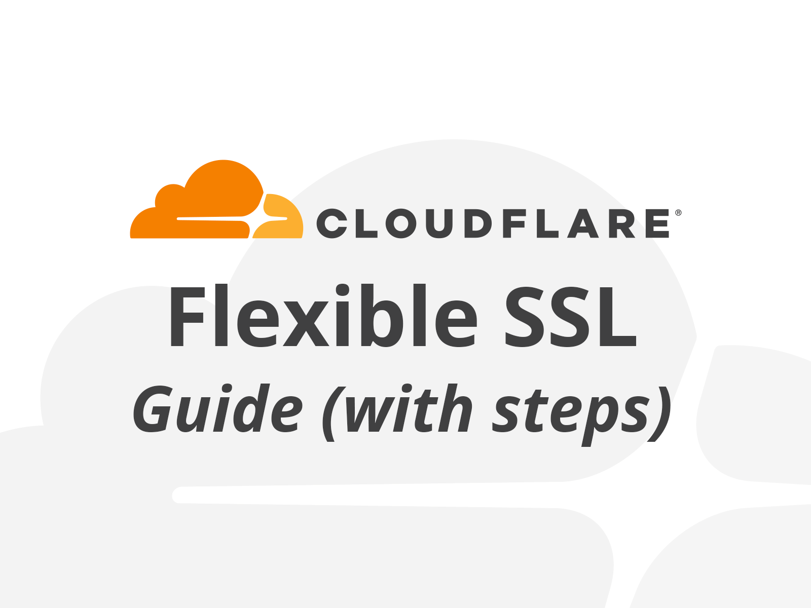 How to add CloudFlare SSL (Flexible)