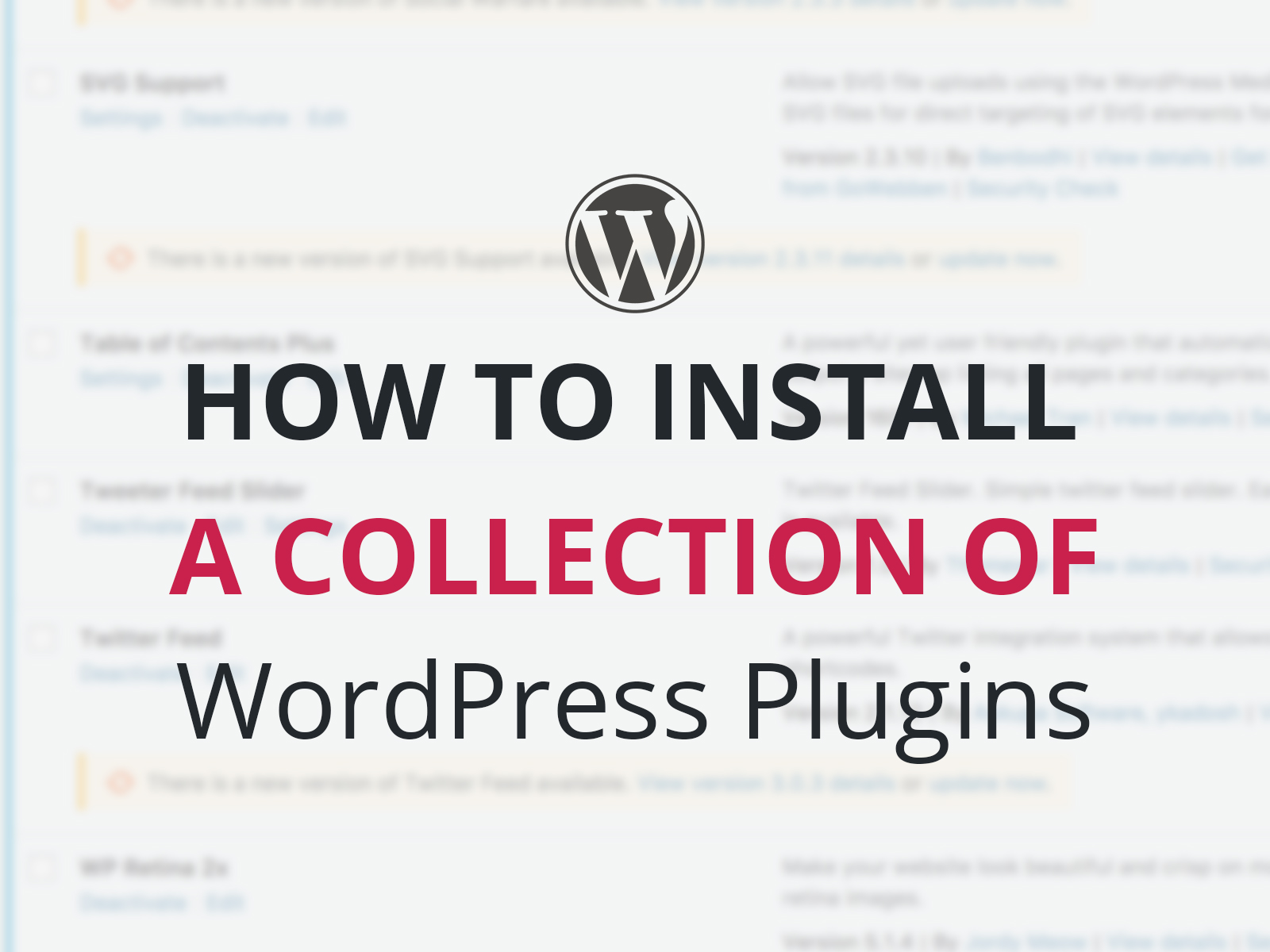 How to Install a Collection of WordPress Plugins