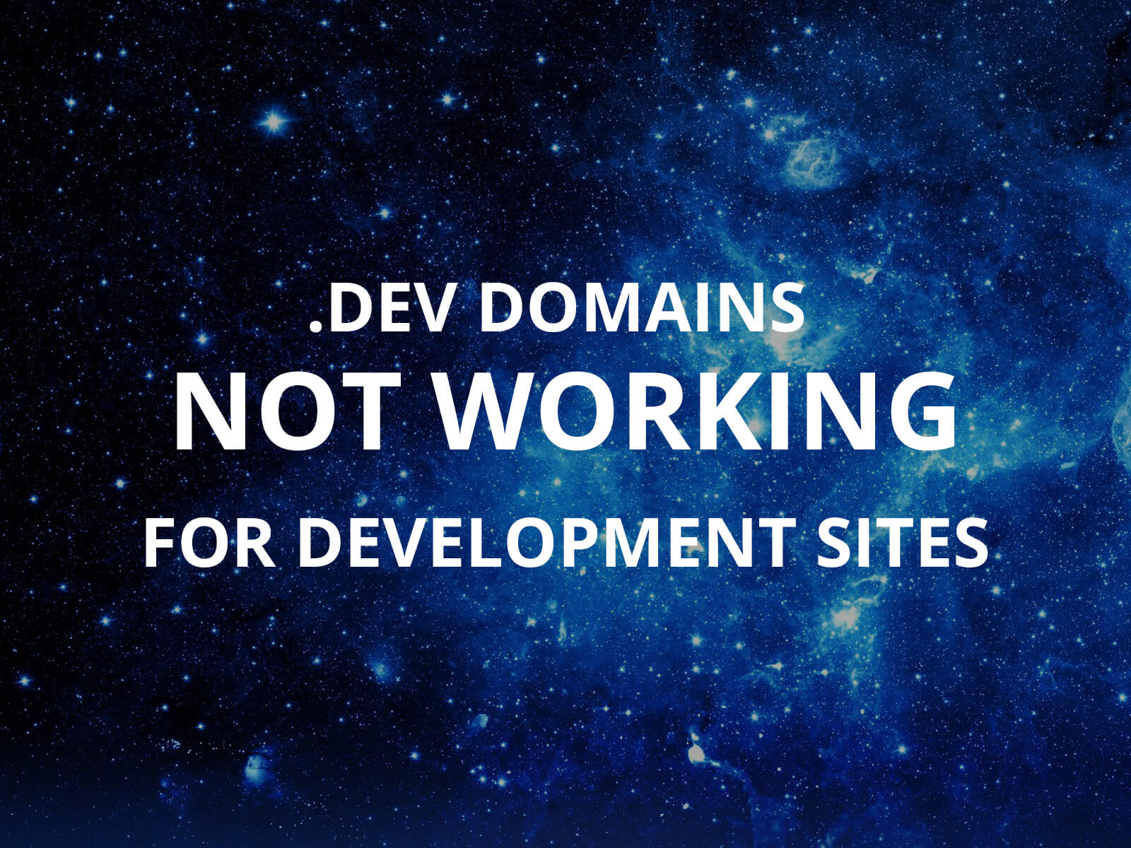 Dev domains not working for development site