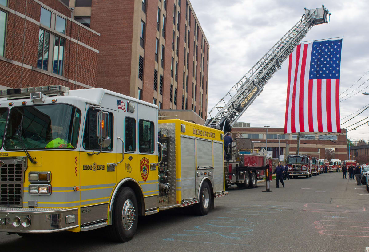 First responders visit Middlesex Health.