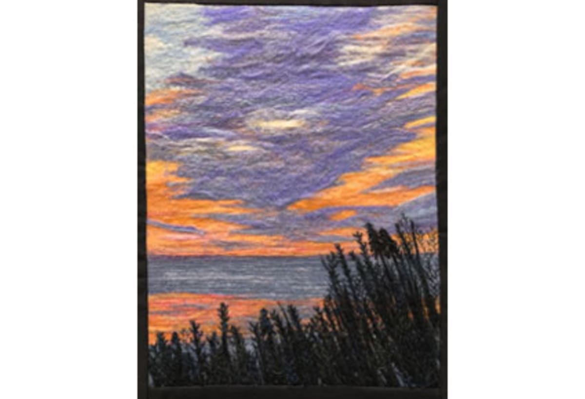 Violet Twilight II by Diane Cadrain
