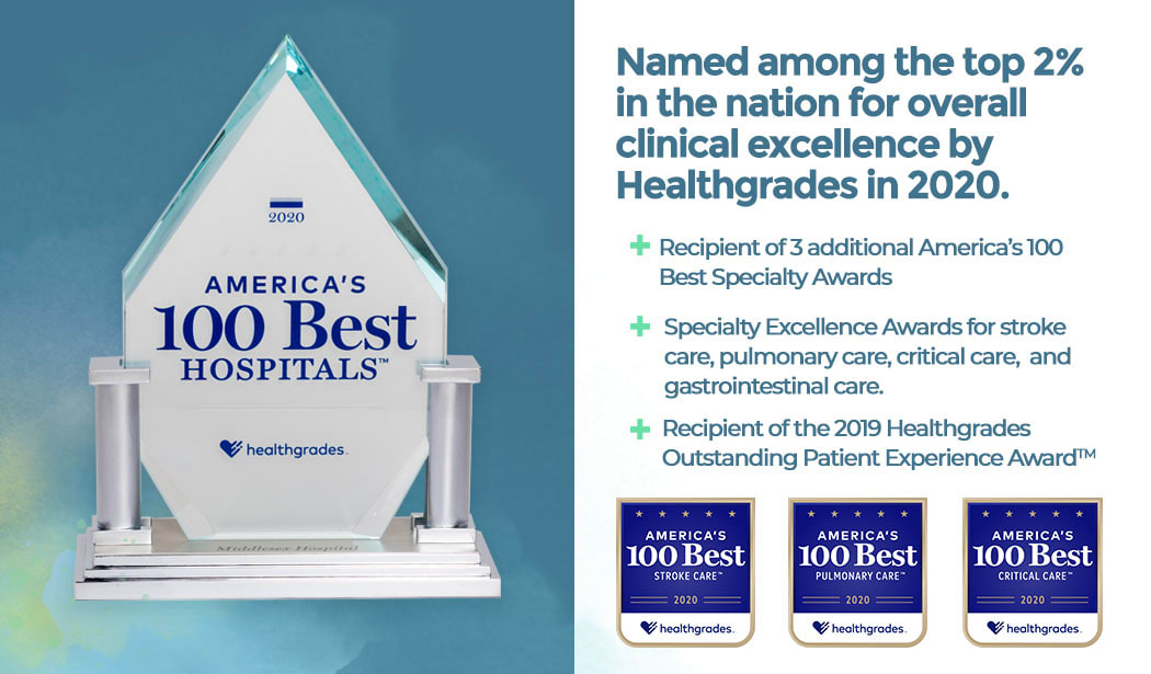 Middlesex is a Healthgrades America's 100 Best Hospitals in 2020.