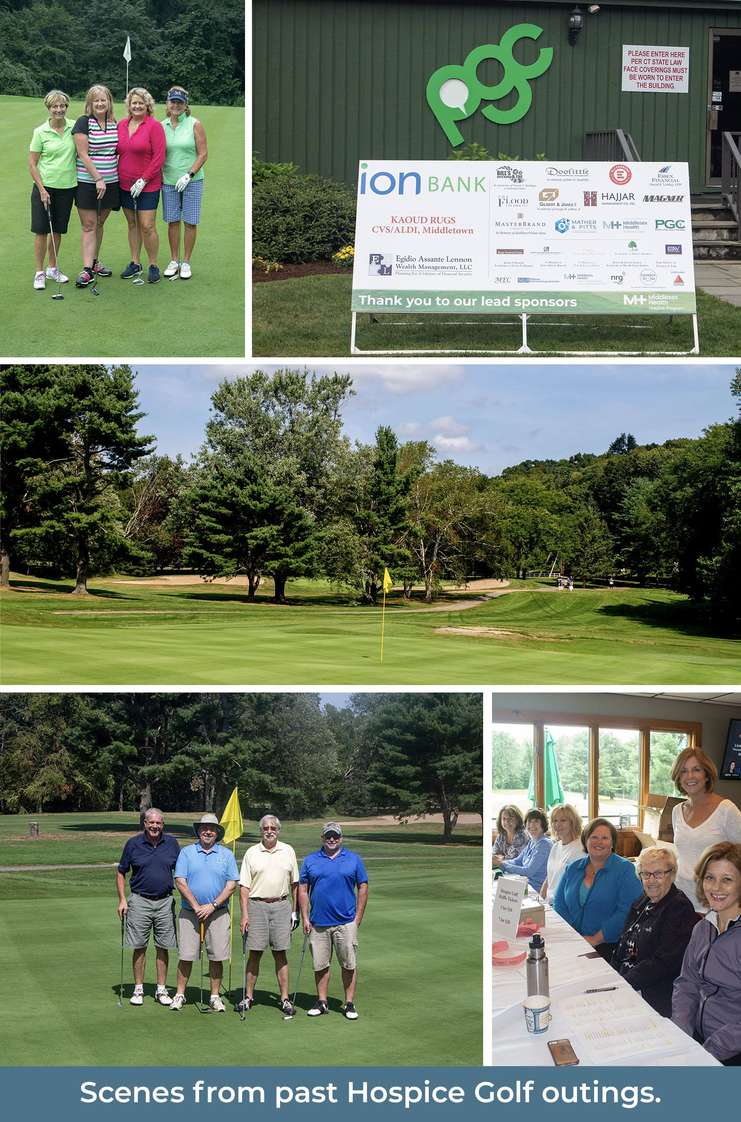 Scenes from Hospice Golf outings.
