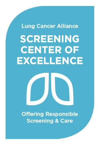 The Total Lung Care Center at Middlesex Health is a Lung Cancer Screening Center of Excellence.