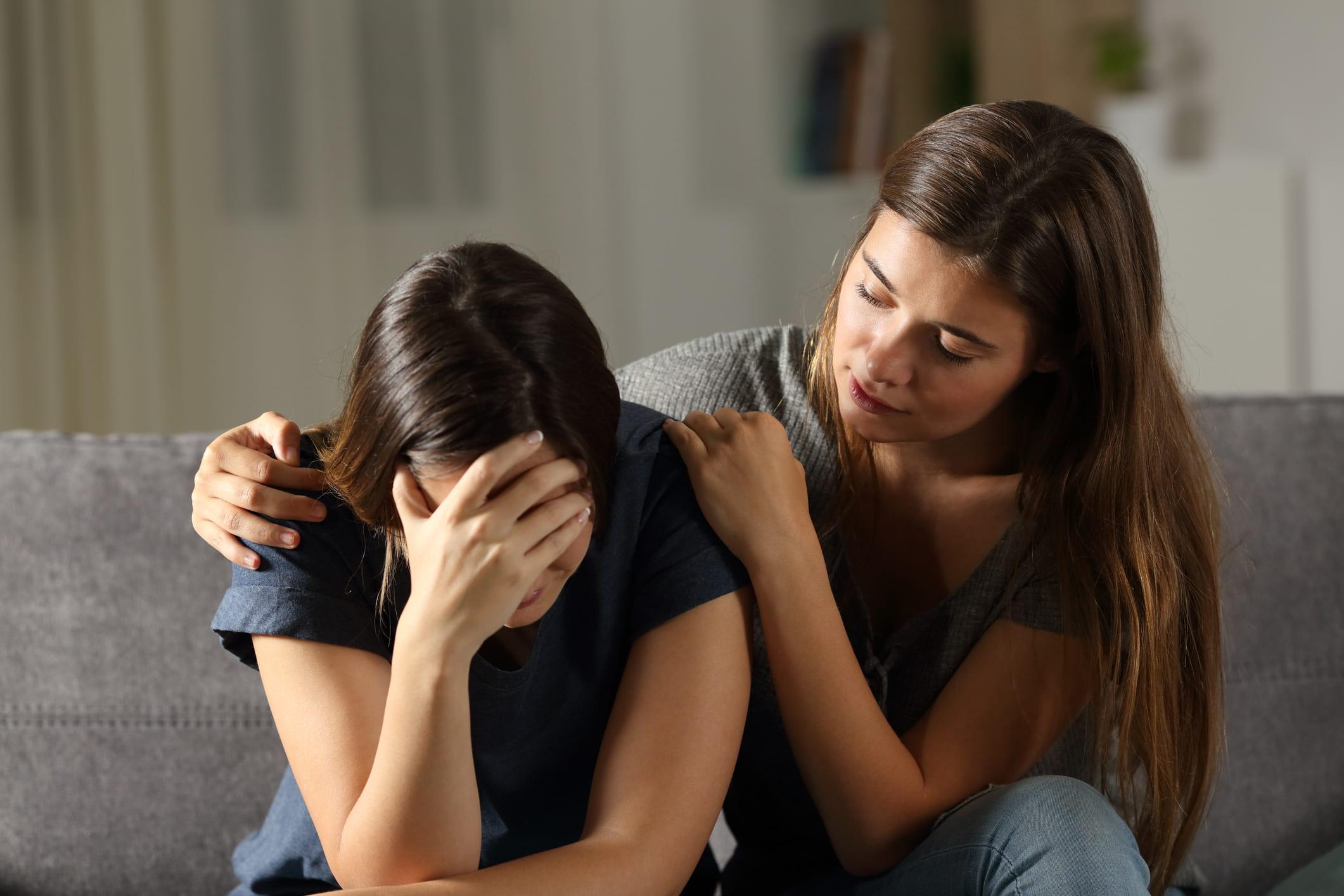 Consoling woman who is upset