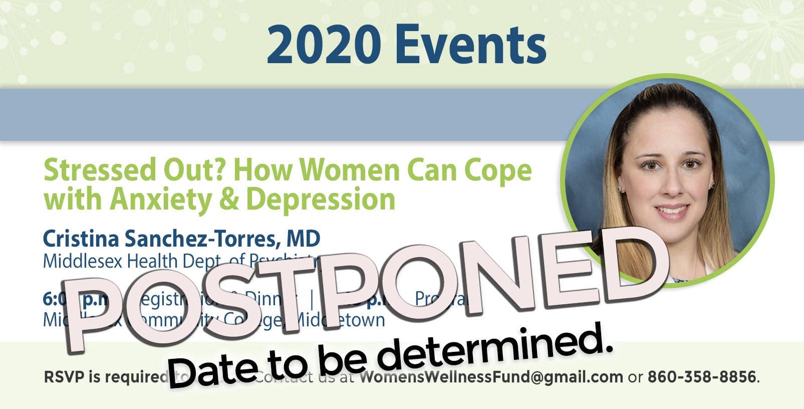 Our March 26th event has been postponed.