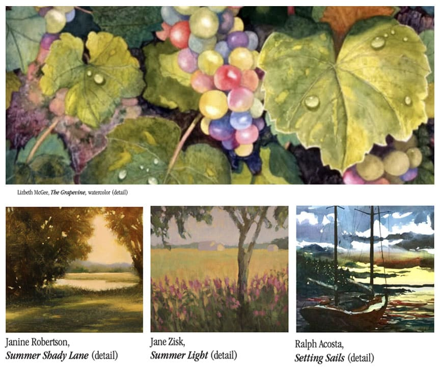 Selected works by members of the Lyme Art Association.