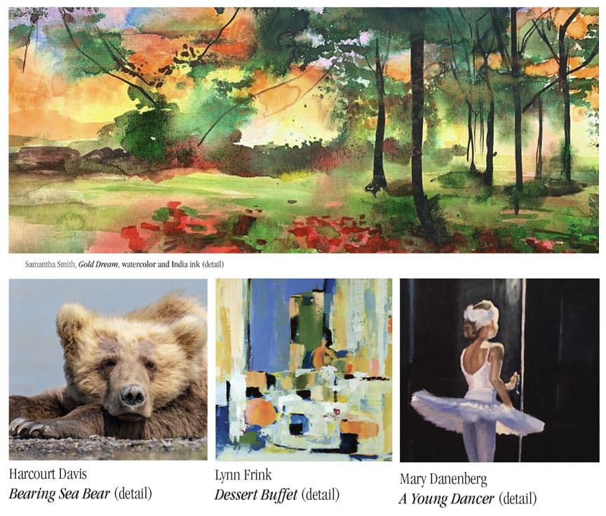 Four featured works for Zahn Gallery Local Vision V.