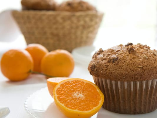 Delicious cranberry orange muffin.