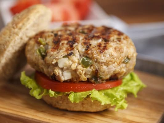 Smoked gouda turkey burger.