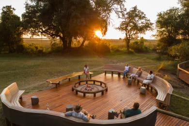 Camp Moremi Open Air Fire Deck