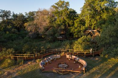Camp Moremi Aerial View
