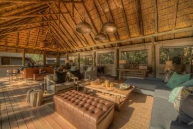 Camp Moremi guest lounge area