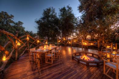 Camp Moremi dinner area