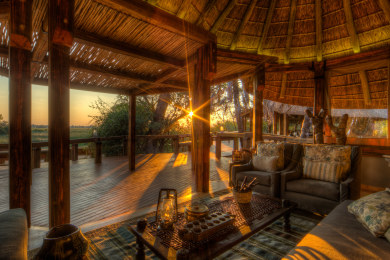 Enjoy sun downers on the deck