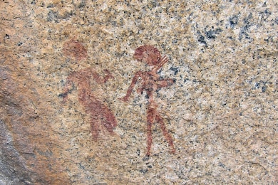 rock paintings  of bushmen