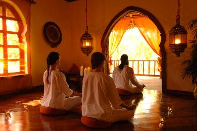Meditation at the Spa