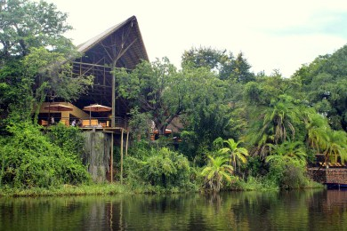 Chobe Safari Lodge from the river