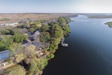 Arial view of Chobe Safari Lodge