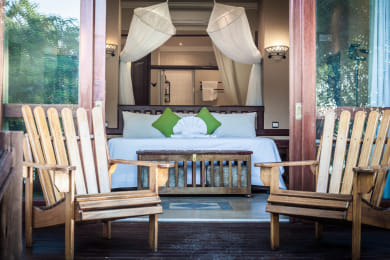 Private verandas in Safari rooms
