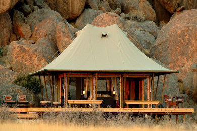 Tented chalet