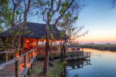 Camp Xakanaxa in the Moremi Game Reserve